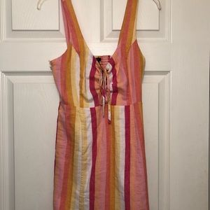 NEW WITH TAGS, Forever 21 Pink, Striped Dress